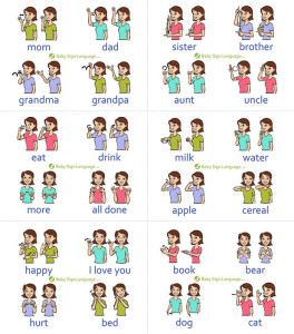 Baby sign language in a child s path