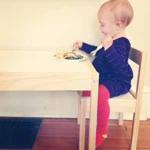 Learning to eat with a fork ©FF